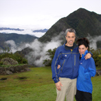 Chris and Zoe in the Urubamba Valley